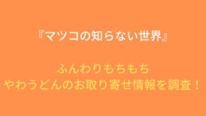 『マツコの知らない世界』やわうどんのお取り寄せ&通販情報を調査!(11月5日放送)