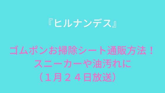 『ヒルナンデス』ゴムポンお掃除シート通販方法!使い方&口コミも(1月24日放送)