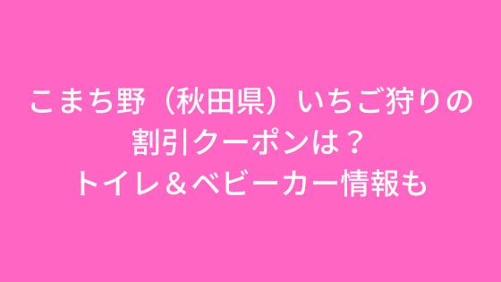 秋田のいちご狩り(こまち野)の割引クーポンは?トイレ&ベビーカー情報も